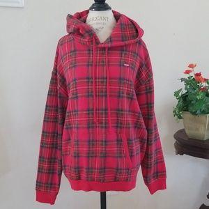 Levi's Hooded Plaid Sweatshirt